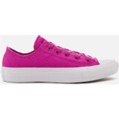 Converse Women's Chuck Taylor All Star II Ox Trainers - Magenta Glow/White