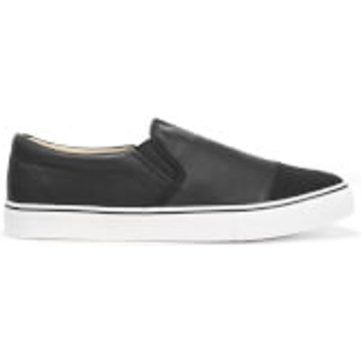 Brave Soul Men's Crasher PU Slip On Shoes - Black - UK 6 - Black
