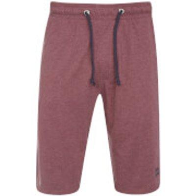 Tokyo Laundry Men's Greenbury Lounge Shorts - Bordeaux Marl - L - Red