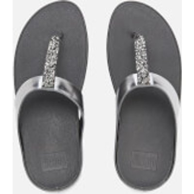 FitFlop Women's Fino Toe-Post Sandals - Pewter - UK 7 - Silver