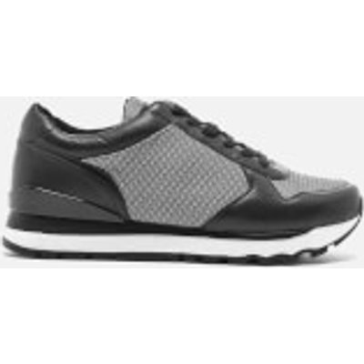 DKNY Women's Jamie Sport Lace Up Runner Trainers - Black/White