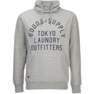 Tokyo Laundry Men's Franklin Valley Hoody - Light Grey Marl - XXL - Grey