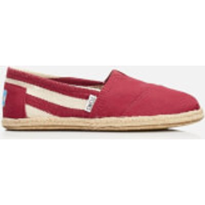 TOMS Women's University Classics Slip-On Pumps - Red Stripe - UK 7/US 9 - Red
