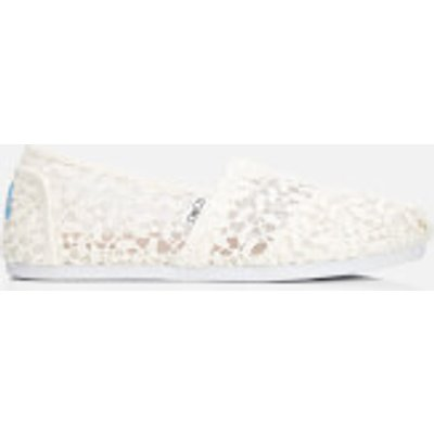 TOMS Women's Seasonal Classic Lace Leaves Slip-On Pumps - White Lace Leaves - UK 4/US 6 - White
