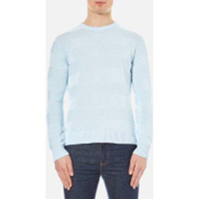 AMI Men's Crew Neck Wide Stripe Sweatshirt - Sky Blue
