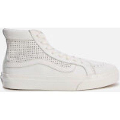 Vans Women's Sk8 Hi Slim Cutout Perforated Hi-Top Trainers - Blanc de Blanc - UK 3 - White