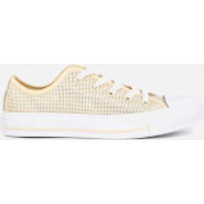 Converse Women's Chuck Taylor All Star Ox Trainers - Natural/Frayed Burlap/White