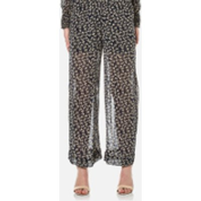 Ganni Women's Newman Georgette Trousers - Total Eclipse