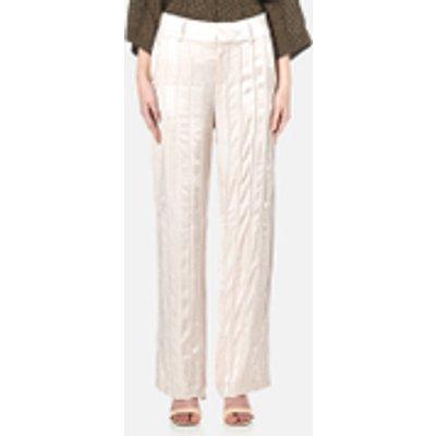 Gestuz Women's Tessa Wide Leg Seam Detail Satin Pants - Moonbeam