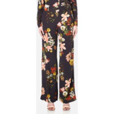 Gestuz Women's Cally Floral Print Wide Leg Trousers - Multi Colour Flower