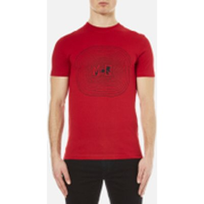 McQ Alexander McQueen Men's Short Sleeve Crew Neck T-Shirt Live Fast Die - Dark Idahoe Red