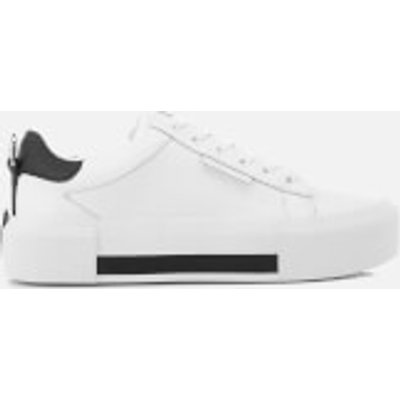 Kendall + Kylie Women's Tyler Leather Flatform Trainers - White/Black - UK 7/US 9 - White