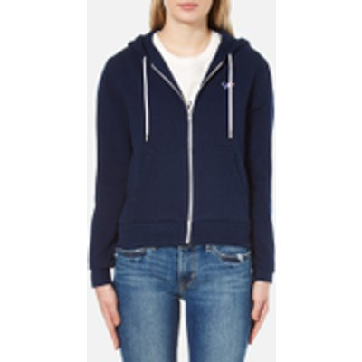 Maison Kitsuné Women's Fox Patch Zip Hoody - Dark Blue