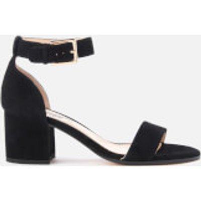 Dune Women's Jaygo Suede Barely There Blocked Heeled Sandals - Black - UK 8 - Black