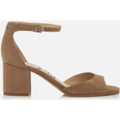 Sam Edelman Women's Susie Suede Blocked Heeled Sandals - Oatmeal - US 6/UK 4 - Nude