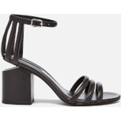 Alexander Wang Women's Cage Abby Leather Block Heeled Sandals - Black