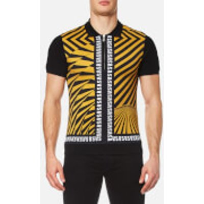 Versus Versace Men's All Over Printed Polo Shirt - Yellow/Black