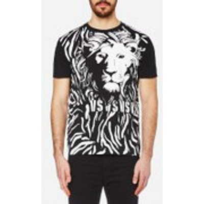 Versus Versace Men's Lion Large Logo T-Shirt - Black/White