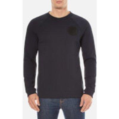Versace Collection Men's Round Logo Sweatshirt - Navy