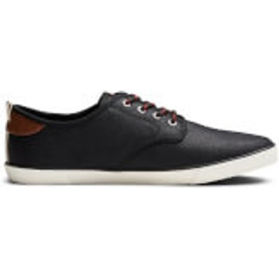 Jack & Jones Men's Tack Waxed Canvas Trainers - Anthracite - UK 11 - Black