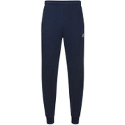 adidas Men's Essential Logo Cuffed Fleece Sweatpants - Navy - XXL - Blue