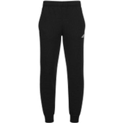 adidas Men's Essential Logo Cuffed Fleece Sweatpants - Black - XL - Black