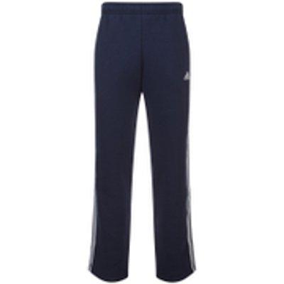 adidas Men's Essential 3 Stripe Fleece Sweatpants - Navy - XXL - Blue