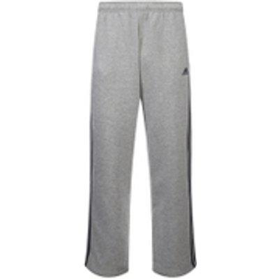 adidas Men's Essential 3 Stripe Fleece Sweatpants - Grey Marl - XXL - Grey