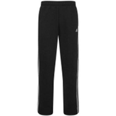 adidas Men's Essential 3 Stripe Fleece Sweatpants - Black - XXL - Black