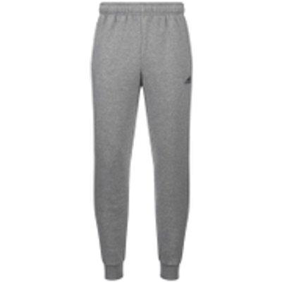 adidas Men's Essential Logo Cuffed Fleece Sweatpants - Grey - XXL - Grey