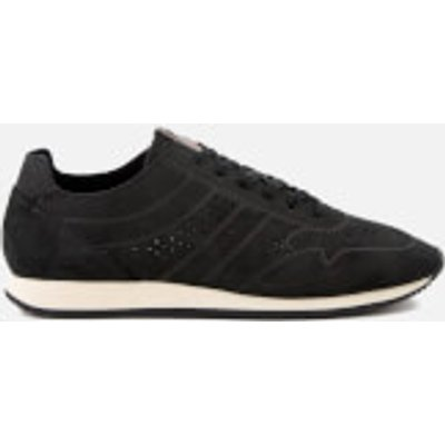 BOSS Orange Men's Adrenal Runn Nubuck Trainers - Black