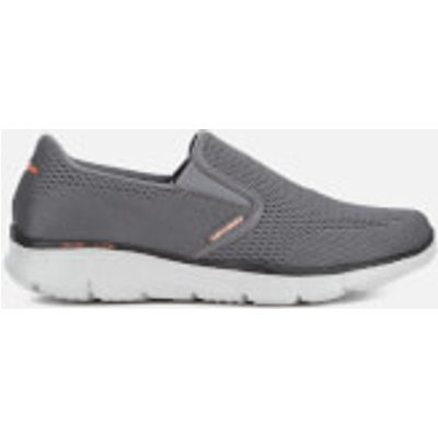 Skechers Men's Equalizer Double-Play Trainers - Charcoal/Orange - UK 9 - Grey