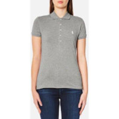 Polo Ralph Lauren Women s Julie Polo Shirt   Regent Heather   M   Grey - 3614712850135