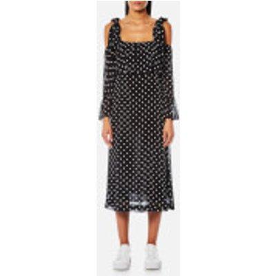 Ganni Women's Monette Georgette Dress - Black
