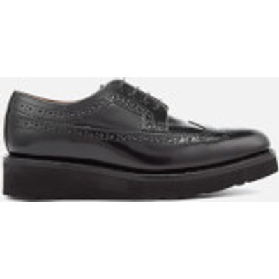 Grenson Women's Agnes Gloss Leather Brogues - Black