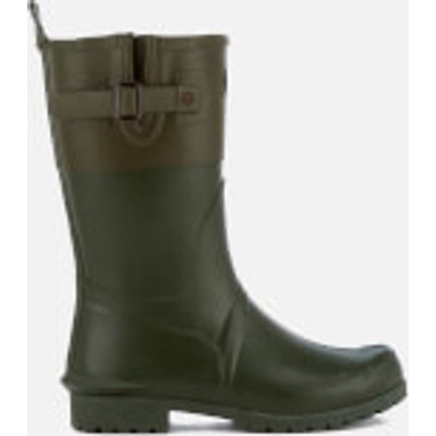 Barbour Women's Colour Block Short Wellies - Kelp/Khaki - UK 4 - Green
