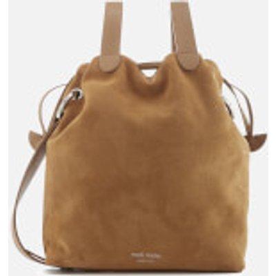meli melo Women's Hazel Suede Drawstring Bag - Light Tan