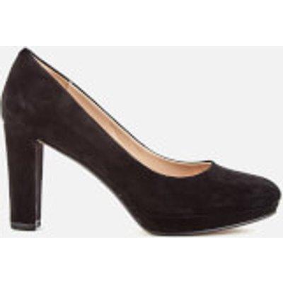 Clarks Women's Kendra Sienna Suede Platform Court Shoes - Black - UK 8 - Black