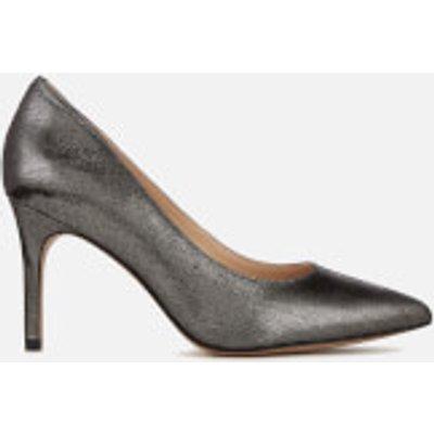 Clarks Women's Dinah Keer Metallic Court Shoes - Pewter - UK 7 - Silver