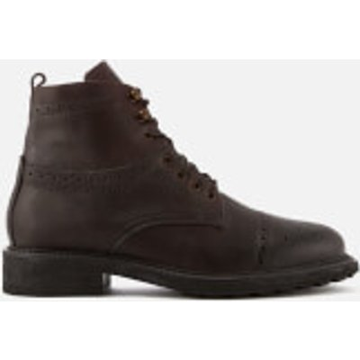 Hudson London Men's Fernie Leather Brogue Lace Up Boots - Brown - UK 10 - Brown