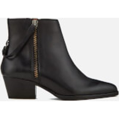 Hudson London Women's Larry Leather Heeled Ankle Boots - Black - UK 6 - Black