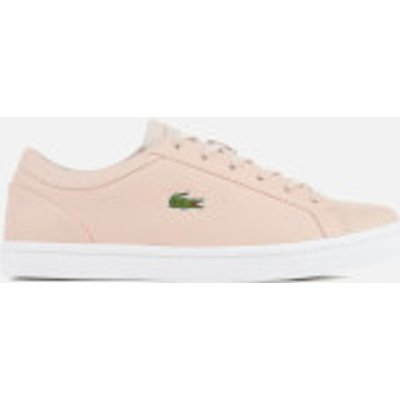 Lacoste Women's Straightset Lace 317 3 Cupsole Trainers - Light Pink - UK 7 - Pink