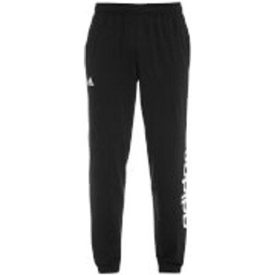 adidas Men's Essential Linear Panel Sweatpants - Black - L - Black
