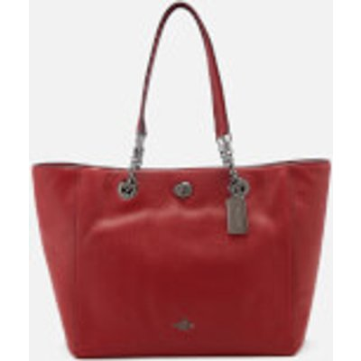Coach Women's Turnlock Chain Tote Bag - Cherry