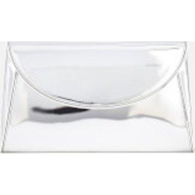 Diane von Furstenberg Women's Metallic Evening Clutch Bag - Silver