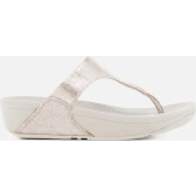 FitFlop Women's Shimmy Suede Toe-Post Sandals - Silver - UK 6 - Silver