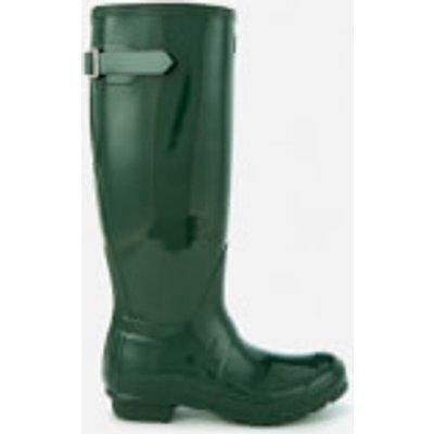 Hunter Women's Back Adjustable Gloss Wellies - Hunter Green