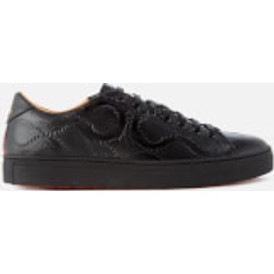 Vivienne Westwood MAN Men's Derby Leather Low Top Trainers - Black Squiggle Print - UK 8 - Black
