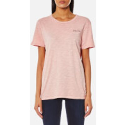 Maison Scotch Women's Garment Dyed T-Shirt with Chest Embroidery - Gaucho Rouge