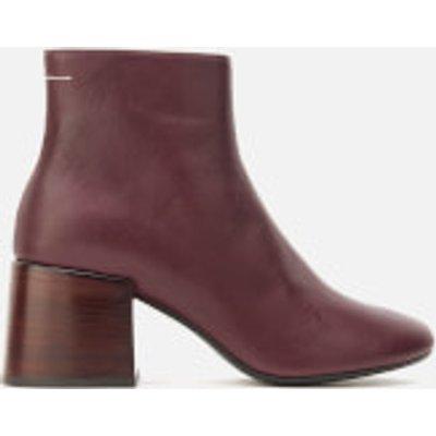 MM6 Maison Margiela Women's Heeled Ankle Boots - Bordeaux